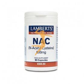 NAC (N-ACETIL CISTEÍNA) 600Mg. 90 CÁPSULAS LAMBERTS