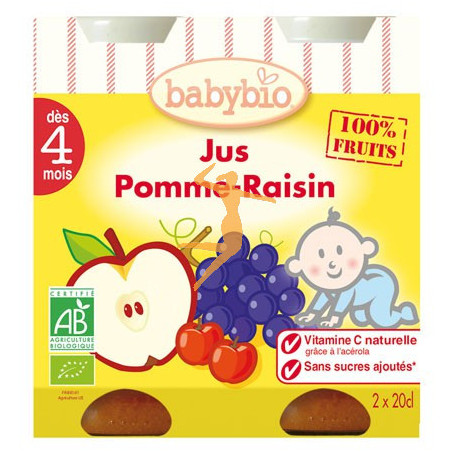 Zumo de mazana y uva bipack babybio for Limpieza y curacion con zumo de manzana