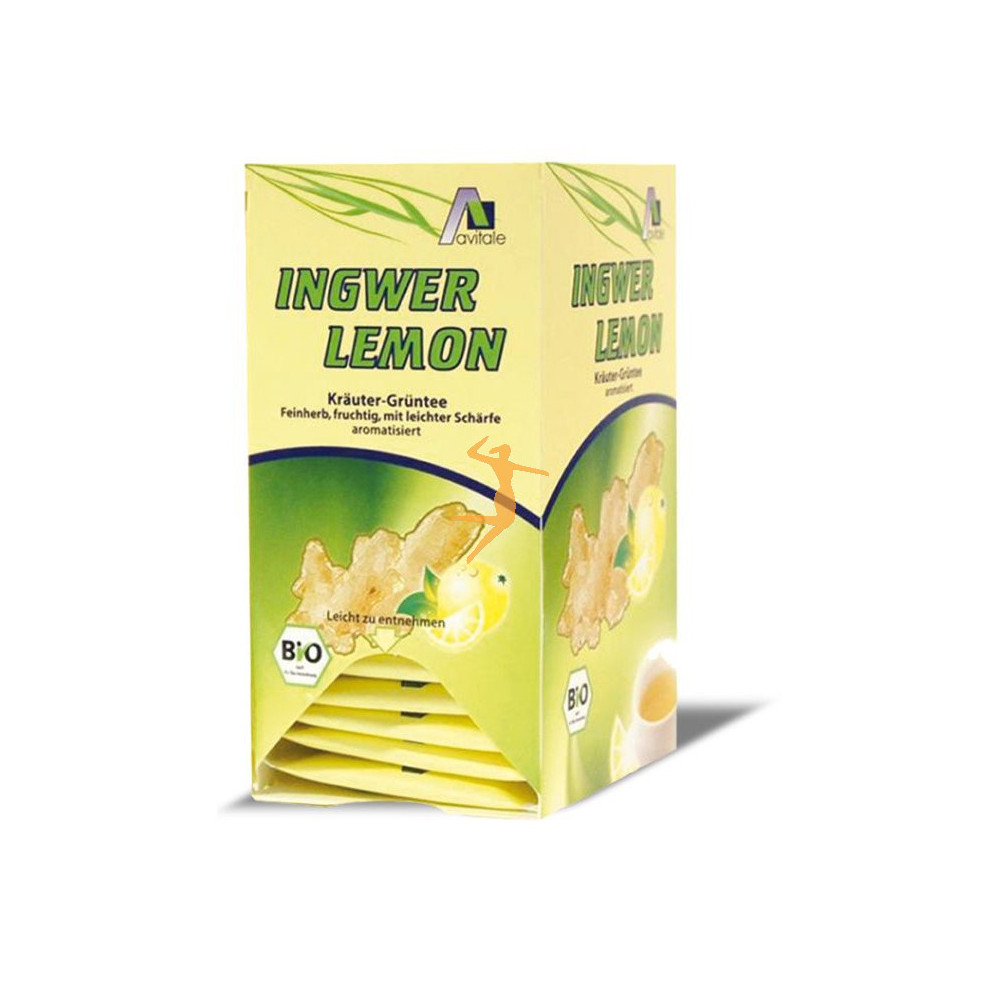 Infusiones de Jengibre y Limón con Té Verde BIO Ingwer Lemon