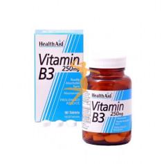 VITAMINA B3 NIACINAMIDA 90 COMPRIMIDOS HEALTH AID