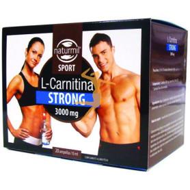 L-CARNITINA STRONG 20 AMPOLLAS 15Ml. NATURMIL SPORT